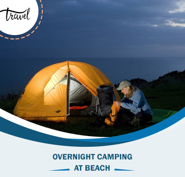 Overnight camping at Khasab beach